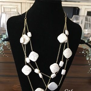 Jewelry - White floating necklace